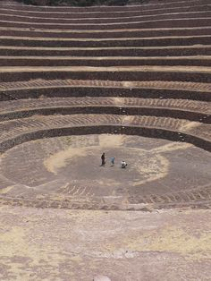 Moray (Inca ruin), Cusco, Peru / Moray was perhaps an Inca agricultural experiment station. As with many other Inca sites, it also has a sophisticated irrigation system.