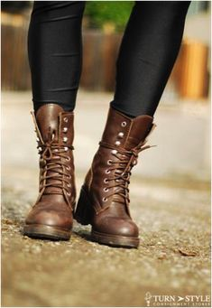 Combat boots are in for fall, stop by Turn Style to find the pair that best suits your personality.