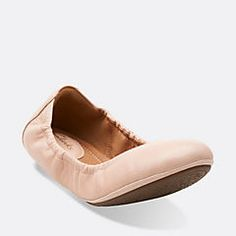 Grayson Erica Nude Perfed Leather - Clarks Womens Shoes - Womens Heels and Flats - Clarks - Clarks® Shoes