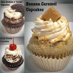 🎉 🥂 We're ringing in the New Year with Cupcakes. New Year's Cupcakes, Black Forest Cake, Baking Ideas, Banana, Desserts, Food, Candies, Tailgate Desserts, Deserts