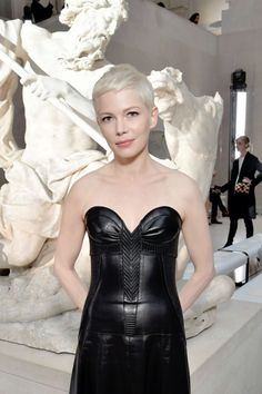Michelle Williams at the Louis Vuitton show at the Paris Fashion Week Womenswear Fall/Winter 2017/2018 on March 7, 2017 in Paris, France.