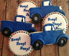 1 dozen Little Blue Truck cookies
