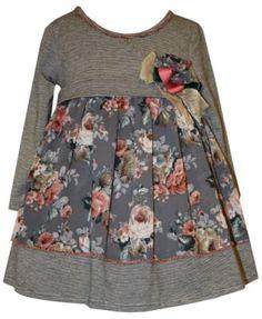 Bonnie Baby Baby Girls' Stripes & Floral-Print Dress | macys.com