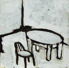 "Saatchi Art Artist Jan Valer; Painting, ""Still life # 7 (table and chair)"" #art"