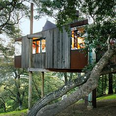 Post Ranch Inn, Big Sur, CA as featured in Sunset.  You could only afford a weekend but would be worth it.