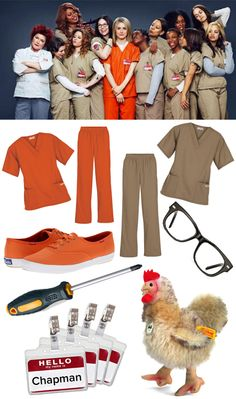 Orange Is the New Black is sure to be the easiest and hottest #Halloween costume for your group of girlfriends! All you need are some sets of scrubs and accessories. #Halloween2013