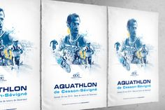 Affiche Aquathlon de Cesson-Sevigné 2014 Isometric Design, Event Flyers, Images, Illustration, Books, Poster, Inspiration, Art, Swimming