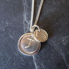 Letterfest Fine Silver Double Letter Necklace http://letterfest.com/jewellery/Fine-silver-necklace-and-charm-letter From £45.00