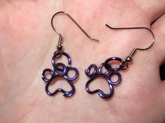 Wire Wrapped Paw Print MADE to ORDER Earrings by 1ofAkinds on Etsy, $8.00