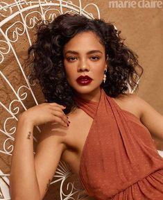 Tessa Thompson is a natural beauty in outdoorsy shoot as she graces the cover of Marie Claire Tessa Thompson, Zendaya, Marie Claire, Fashion Editor, Editorial Fashion, Pretty People, Beautiful People, Gorgeous Women, Man In Black