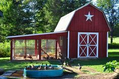 Building a Chicken Coop Chicken coop designs and ideas. Building a chicken coop does not have to be tricky nor does it have to set you back a ton of scratch. Backyard Chicken Coops, Diy Chicken Coop, Chickens Backyard, Chicken Coop Plans Free, Walk In Chicken Coop, Chicken Coup, Chicken Feeders, Chicken Coop Designs, Canard Coop
