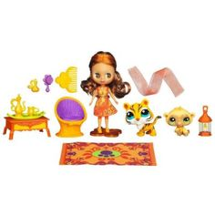 Blythe Loves Littlest Pet Shop - Colorfully Cute - India Orange Sari Style # B46