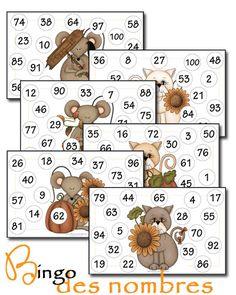 Bingo des nombres (loto).        Outils et jeux mathématiques CP/CE1 - Caracolus