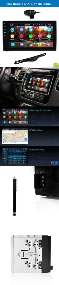 "Pyle Double-DIN 6.5"" HD Touchscreen Android Stereo Receiver & Dash Cam with Rearview Backup Camera, Wi-Fi Web Browsing, GPS Navigation, Bluetooth Capabilities, Plus AM/FM Car Radio, (PLDNAND465). Unlock tablet-style functionality, along with DVR dash Cam recording for your vehicle, with pyle's Android stereo receiver & camera system. The 6.5"" touchscreen receiver comes jam-packed with entertainment and safety features like Wi-Fi connectivity, Bluetooth wireless music streaming, hands-free..."