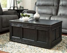 Rubbed Black Gavelston Coffee Table View 1