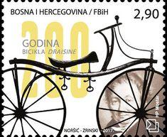 Francobollo: 200th Anniversary of the Draisine Bicycle (Bosnia ed Erzegovina - Amministrazione Croata) (200th Anniversary of the Draisine Bicycle) Mi:BA-HB 457