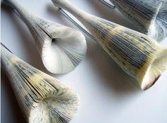 Paper brooches by Michihiro Sato
