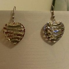 I just discovered this while shopping on Poshmark: New Striped Silver STatement Earrings. Check it out!  Size: OS