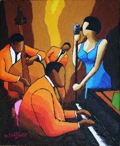 Chanteuse Jazz bleue II