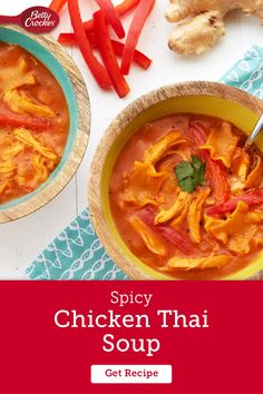 Stretch your comfort food repertoire with a creamy chicken Thai soup that takes weeknight flavor to new places. Use Progresso Chicken Broth, Hamburger Helper Lasagna, coconut milk, fresh ginger root, red curry paste and a few other pantry staples to bring this easy chicken Thai soup to the table.