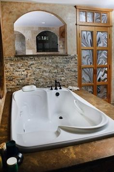 Jet tub for two. This is What I need! ♥♥