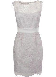 White Mini Dress - Bqueen Floral Cutwork Dress K449B