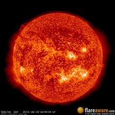 The hourly sun (at 02:44 am  UTC on 22 June 2013)