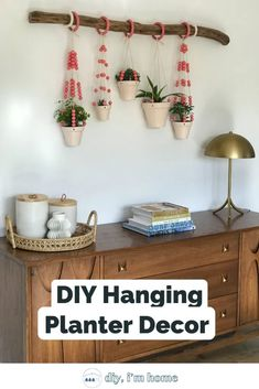 DIY Hanging Plant Decor Tutorial | Learn how to make this hanging plant decor for your home | #diy hanging planter #diy wall planter#planter #hanging planter Diy Home Decor Easy, Diy Home Decor Bedroom, Handmade Home Decor, Hanging Wall Planters, Decorative Planters, Decor Crafts, Home Crafts, Diy Home Improvement, Diy Wood Projects