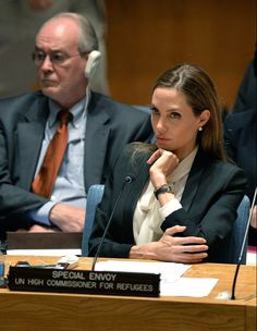 Angelina Jolie At The UN #Hollywood #Fashion