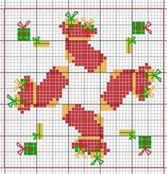 Cross-stitch biscornu ... no color chart available, just use the pattern chart as your color guide.. or choose your own colors...    , ....A PUNO DE CRUZ
