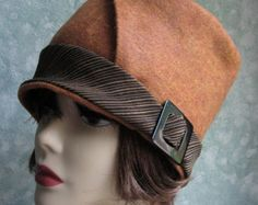 Womens Hat Pattern Flapper Style Brimmed With por kalliedesigns