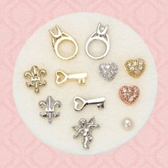 Charms from Bon Bon Bijoux. These great little charms nestle inside one of the beautiful lockets we will have available shortly!