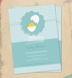 Ilustrative Baby Shower Invitation
