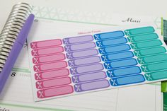 NEW Meal Planner Stickers perfect for Erin by AlternateForces