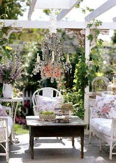 Outdoor Living, Vintage, Porch, Patio, Deck, Balcony, Decor, Style, Shabby Chic, Rustic, DIY, Feminine