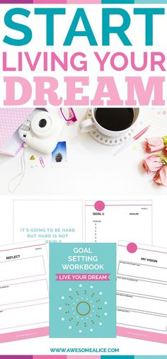 Use this goal setting page to outline your goal plan and create a realistic action plan!By writing out your goals and action steps, you will have a visual reminder of what you have to look forward to! #goal #newyearsresolution #goalsetting #printable New Year's Resolution www.awesomealice.com