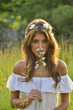 Bohemian summer wedding dress