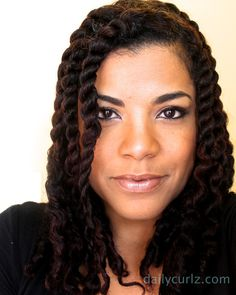 can't wait until my hair is long and I can do long chunky twists like these!