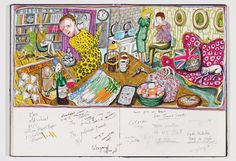 book captures the sketches and evolution of Grayson Perry's famed class tapestries...