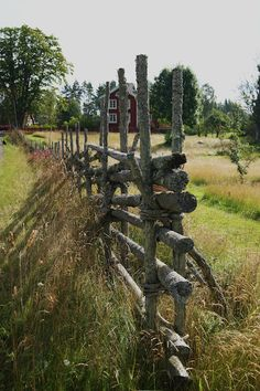 love the stacked limbs to make a fence..so different..
