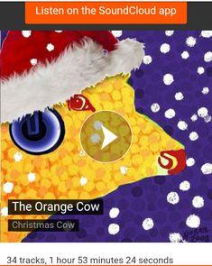 the Orange Cow made a playlist of festive tunes on Soundcloud. Seasonal Image, Festive, Cow, Greeting Cards, Seasons, Orange, Music, Christmas, How To Make
