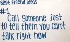 Best friend ideas