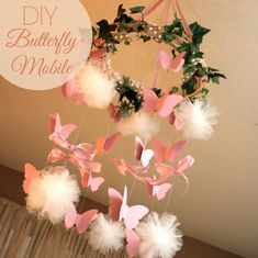 DIY Butterfly Mobile | CatchMyParty.com