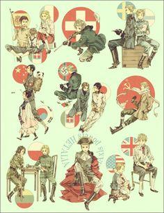 japan and north korea hetalia Latin Hetalia, Hetalia Anime, Hetalia Funny, Hetalia Fanart, Hetalia Russia, Hetalia Axis Powers, History Memes, Country Art, Manga