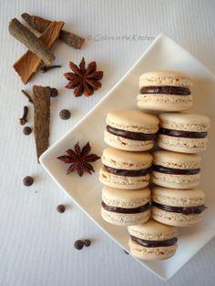 Colors in the Kitchen: Karácsonyi fűszeres macaron narancsos-csokoládékrémmel