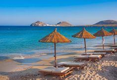 Soak up the sun on Paraga Beach.-in mykonos Mykonos Island, Mykonos Greece, Greece Tours, Greece Trip, Myrtos Beach, Cyprus Greece, Best Greek Islands, Mykonos Hotels, Viajes