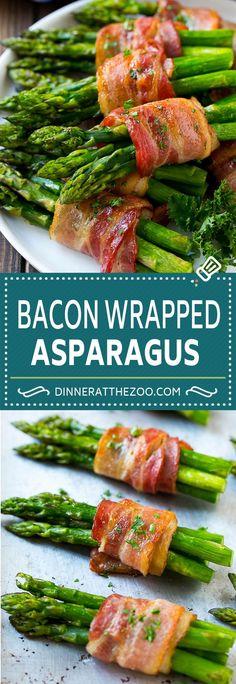 Bacon Wrapped Asparagus Recipe | Roasted Asparagus | Asparagus Side Dish