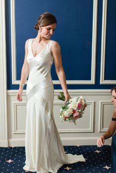 American Yacht Club in Rye, New York Wedding Photo by Jessica Haley || Sarah Janks Wedding Gown || Sarah Janks Wedding Dress