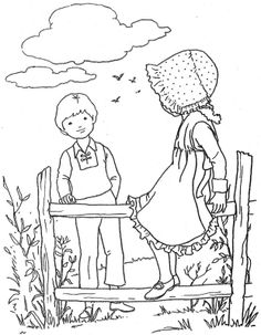 Old Fashioned Coloring Page