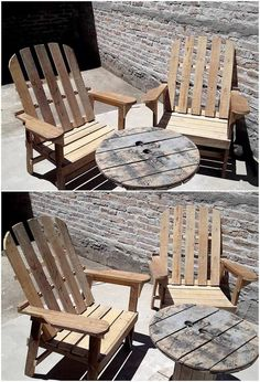 This is a wonderfully designed wood pallet broad size of chair set that is best designed for the outdoor furniture option purposes. This wood pallet awesome chair set is being introduced with the access of cable reel round table into it through which you can move from one place to another. Are you ready to make this creation as part of your house?